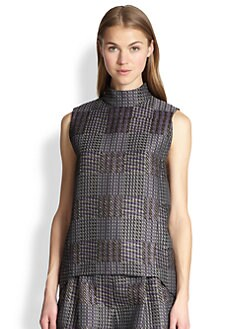 3.1 Phillip Lim - Checkered-Pattern Jacquard Top