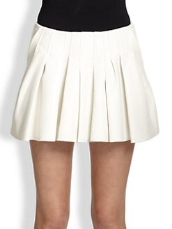 Alexander Wang - Pleated Leather Skirt