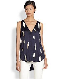 10 Crosby Derek Lam - Beaded Silk Tank