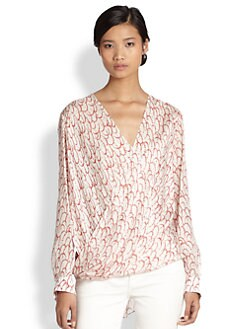 10 Crosby Derek Lam - Silk Mock-Wrap Blouse