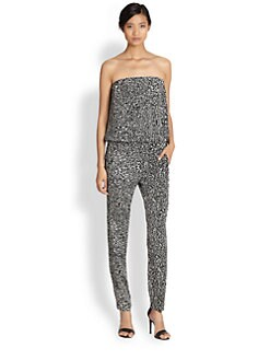 10 Crosby Derek Lam - Strapless Silk Jumpsuit
