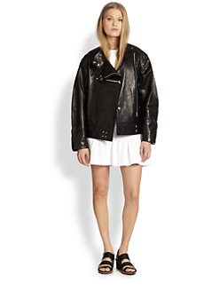 Opening Ceremony - Dakota Leather Dolman-Sleeved Jacket