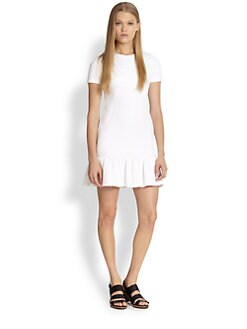 Opening Ceremony - Posey Stretch Jacquard Ruffle-Hem Dress