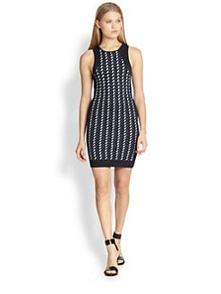 Opening Ceremony - Calyx Textured-Pattern Body-Con Dress