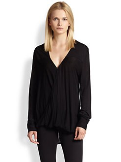10 Crosby Derek Lam - Draped Wrap-Effect Jersey Top