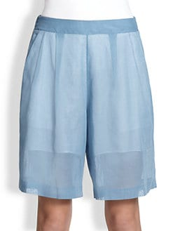 3.1 Phillip Lim - Pleated Cotton Organza Shorts