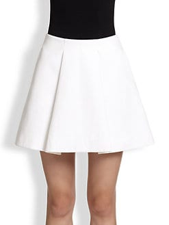 3.1 Phillip Lim - Sateen Sculpted Flirty Skirt
