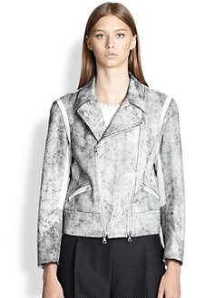 3.1 Phillip Lim - Contrast Cropped Motorcycle Jacket