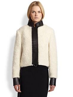 Acne Studios - Trina T. Leather-Trimmed Lamb Fur Jacket
