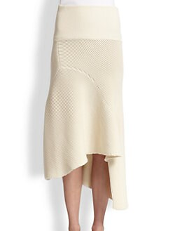 Acne Studios - Asymmetrical Ribbed Wool Skirt