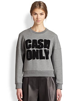 3.1 Phillip Lim - Cash Only Cotton Sweatshirt