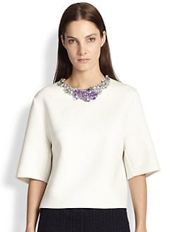 3.1 Phillip Lim - Jeweled-Neck Boxy Top