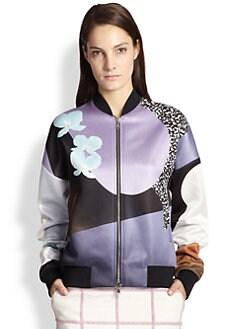 3.1 Phillip Lim - Soleil Printed Satin Bomber Jacket