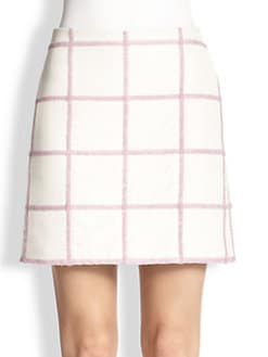 3.1 Phillip Lim - Textured Grid-Patterned Skirt