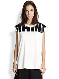3.1 Phillip Lim - Name Drop Cotton Muscle Tank