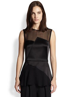 3.1 Phillip Lim - Luna Sheer-Paneled Top