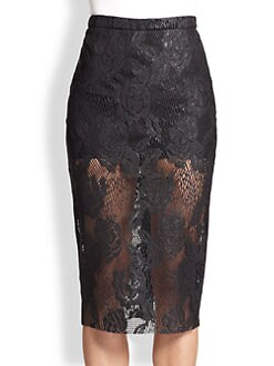 MSGM - Sheer Lace Pencil Skirt