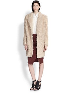 Elizabeth and James - Iris Shaggy Faux Fur Boyfriend Coat