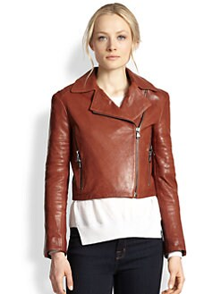 J Brand - Aiah Leather Moto Jacket