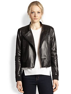 J Brand - Devon Leather Bomber Jacket