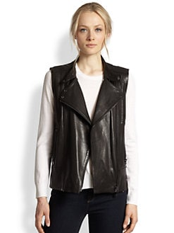 J Brand - Madisyn Leather Motorcycle Vest