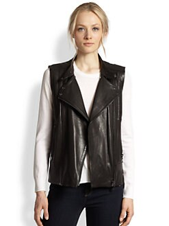 J Brand Ready-To-Wear - Madisyn Leather Motorcycle Vest