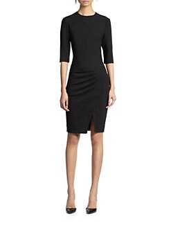 L'AGENCE - Pleat-Detailed Jersey Dress