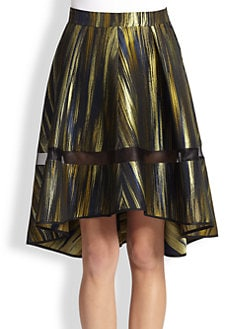 Ostwald Helgason - Sheer-Trimmed Printed Flared Skirt