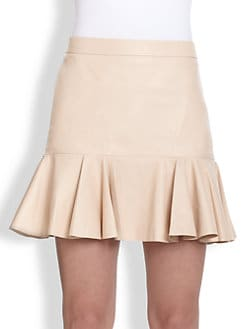 10 Crosby Derek Lam - Leather Ruffle Skirt