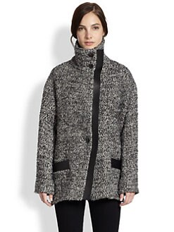 IRO - Chayton Leather-Trimmed Coat