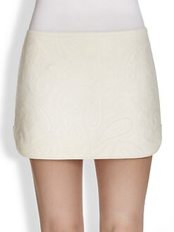 Alexander Wang - Paisley Quilted Leather Skirt