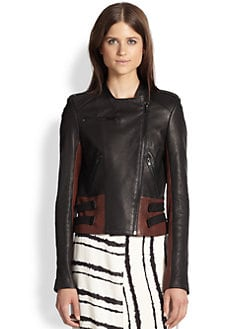 A.L.C. - Mack Paneled Leather Moto Jacket