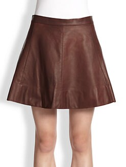 A.L.C. - Stevenson Leather Flared Skirt