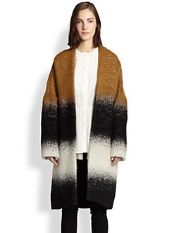 10 Crosby Derek Lam - Oversized Belted Alpaca, Mohair & Cotton Coat