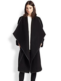 10 Crosby Derek Lam - Leather-Trimmed Oversized-Lapel Wrap Coat