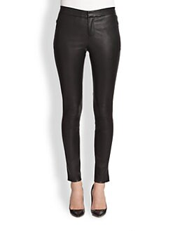 J Brand - Beryl Leather Skinny Pants