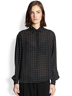 Rag & Bone - Jo Anne Printed Silk Boxy Blouse