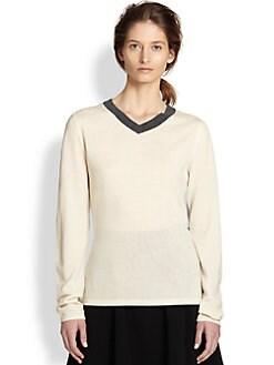 Rag & Bone - Renelle Wool & Cashmere Colorblock Sweater