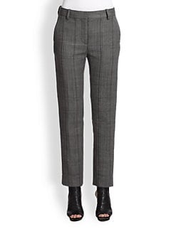 3.1 Phillip Lim - Cropped Wool Plaid Pants