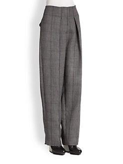 3.1 Phillip Lim - High-Waist Wide-Leg Plaid Trouser Pants