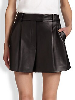 3.1 Phillip Lim - Pleated Leather Shorts