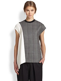 3.1 Phillip Lim - Asymmetrical Mixed-Media Tunic