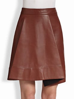 3.1 Phillip Lim - Round Fold Leather Skirt