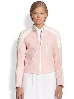 Acne Studios - Minda Colorblock Leather Jacket