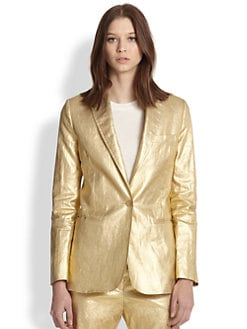 Acne Studios - Metallic Coated Linen Blazer