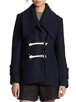 Carven - Oversized Wool Bouclé Coat