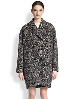 Carven - Oversized Printed Double-Breasted Coat