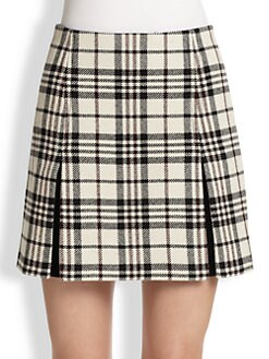 Carven - Plaid Wool Mini Skirt