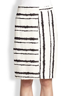 A.L.C. - Walsh Silk Paneled Striped Skirt