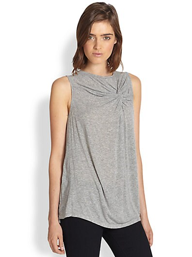 Larissa Knotted Stretch Jersey Tank